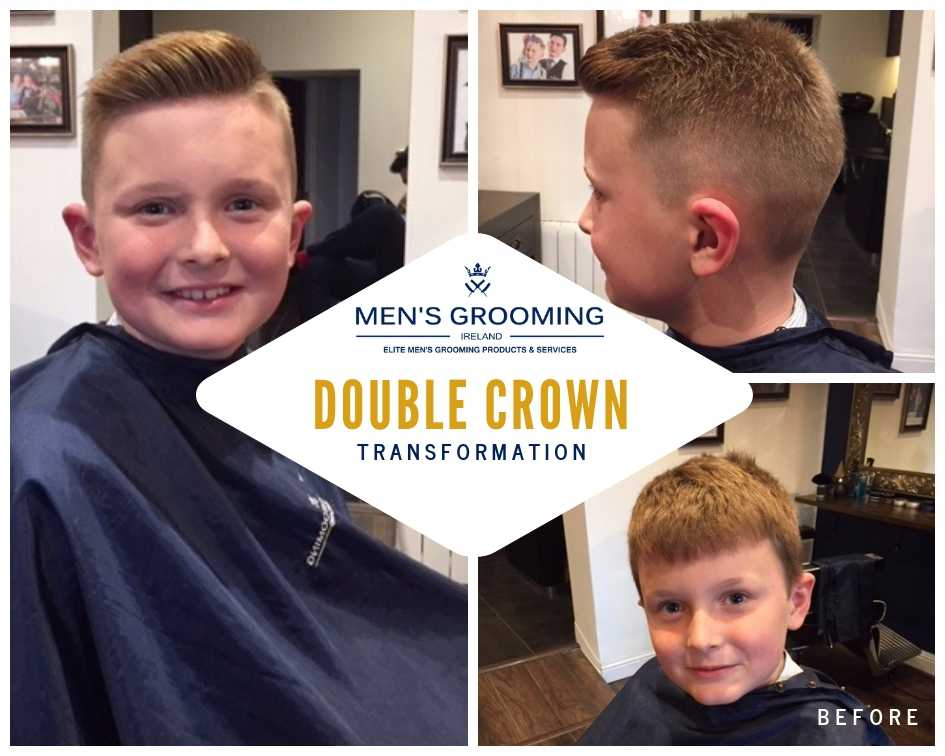 Haircuts for boys: Double crown transformation